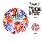 Colorful Succulents Playing Cards 54 (Round)  Front - Spade7