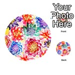 Colorful Succulents Playing Cards 54 (Round)  Back