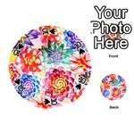 Colorful Succulents Playing Cards 54 (Round)  Front - Spade10