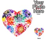 Colorful Succulents Playing Cards 54 (Heart)  Front - ClubA