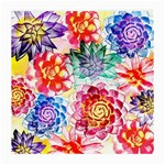 Colorful Succulents Medium Glasses Cloth Front