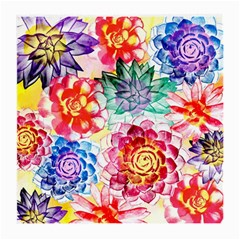Colorful Succulents Medium Glasses Cloth (2 Side)