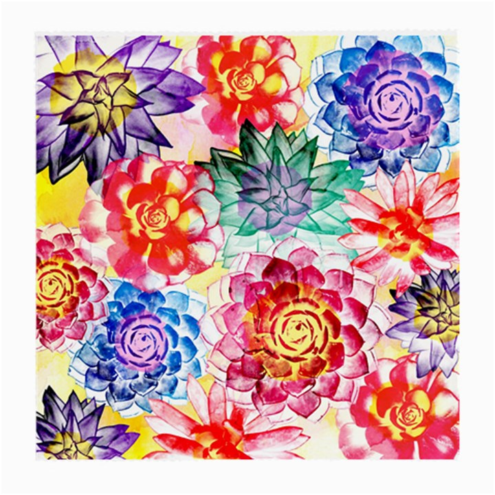 Colorful Succulents Medium Glasses Cloth (2-Side)