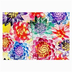 Colorful Succulents Large Glasses Cloth