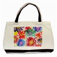 Colorful Succulents Basic Tote Bag (two Sides)