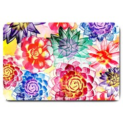 Colorful Succulents Large Doormat