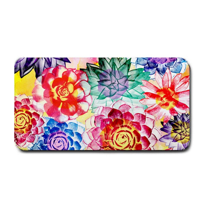 Colorful Succulents Medium Bar Mats