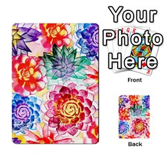 Colorful Succulents Multi Purpose Cards (rectangle)