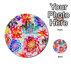 Colorful Succulents Multi Purpose Cards (round)