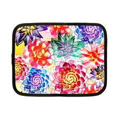 Colorful Succulents Netbook Case (small)