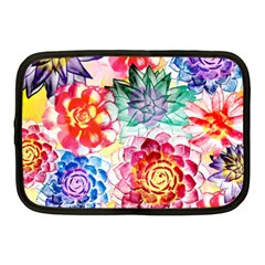 Colorful Succulents Netbook Case (medium)