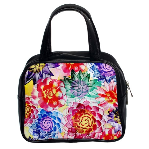Colorful Succulents Classic Handbags (2 Sides)