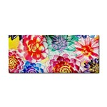 Colorful Succulents Hand Towel Front
