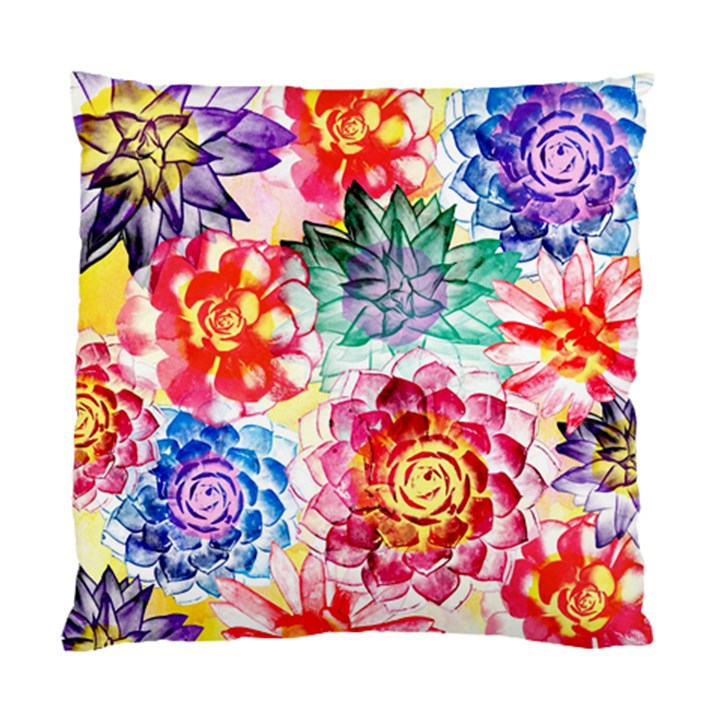 Colorful Succulents Standard Cushion Case (Two Sides)