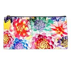 Colorful Succulents Pencil Cases