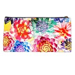 Colorful Succulents Pencil Cases Back