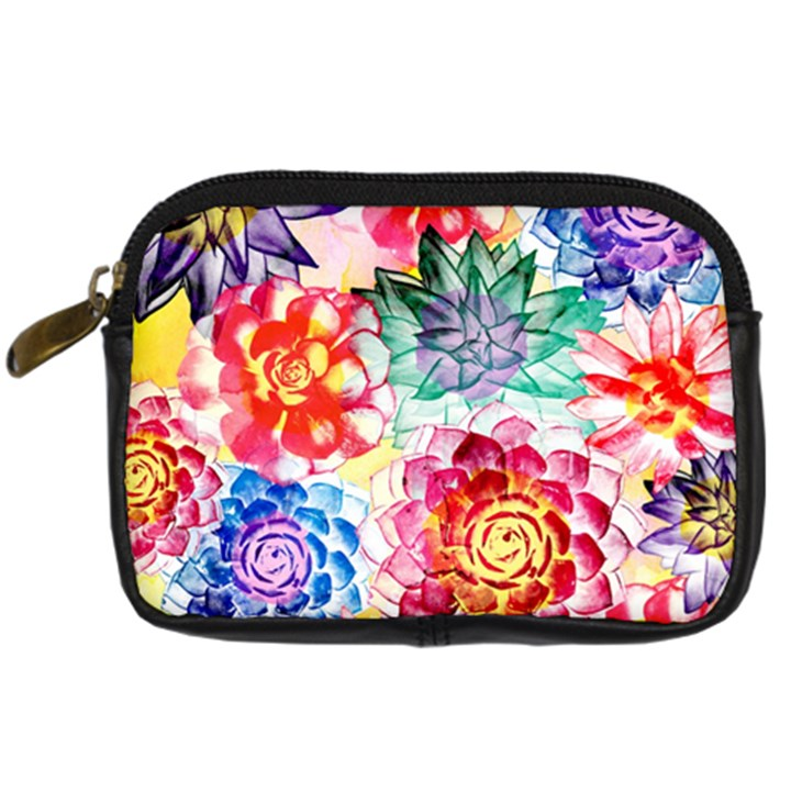 Colorful Succulents Digital Camera Cases