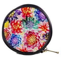 Colorful Succulents Mini Makeup Bags
