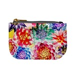 Colorful Succulents Mini Coin Purses Front