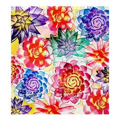 Colorful Succulents Shower Curtain 66  x 72  (Large)
