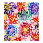 Colorful Succulents Shower Curtain 66  x 72  (Large)  58.75 x64.8 Curtain