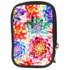 Colorful Succulents Compact Camera Cases