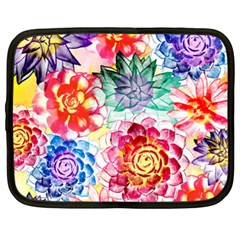 Colorful Succulents Netbook Case (xl)