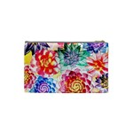 Colorful Succulents Cosmetic Bag (Small)  Back