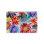 Colorful Succulents Cosmetic Bag (Medium)  Front
