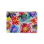 Colorful Succulents Cosmetic Bag (Medium)  Back