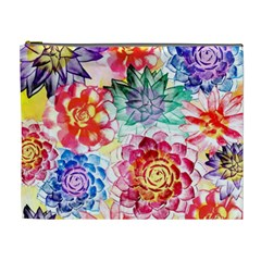 Colorful Succulents Cosmetic Bag (xl)