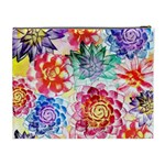 Colorful Succulents Cosmetic Bag (XL) Back