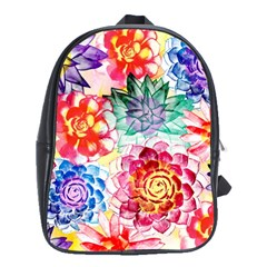 Colorful Succulents School Bags(large)