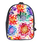 Colorful Succulents School Bags(Large)  Front