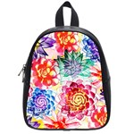 Colorful Succulents School Bags (Small)  Front