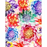 Colorful Succulents Large Memo Pads 4.125 x5.5  Memopad