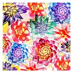 Colorful Succulents Small Memo Pads 3.75 x3.75  Memopad