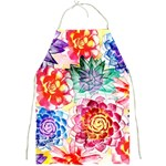 Colorful Succulents Full Print Aprons Front
