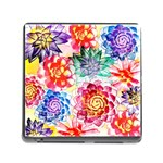 Colorful Succulents Memory Card Reader (Square) Front