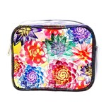 Colorful Succulents Mini Toiletries Bags Front