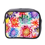 Colorful Succulents Mini Toiletries Bag 2-Side Front