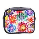 Colorful Succulents Mini Toiletries Bag 2-Side Back