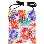 Colorful Succulents Shoulder Sling Bags Front