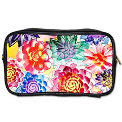 Colorful Succulents Toiletries Bags 2 Side