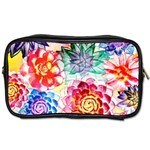 Colorful Succulents Toiletries Bags 2-Side Front