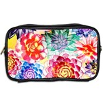 Colorful Succulents Toiletries Bags 2-Side Back