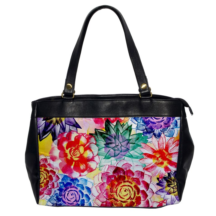 Colorful Succulents Office Handbags