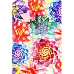 Colorful Succulents 5.5  x 8.5  Notebooks Back Cover