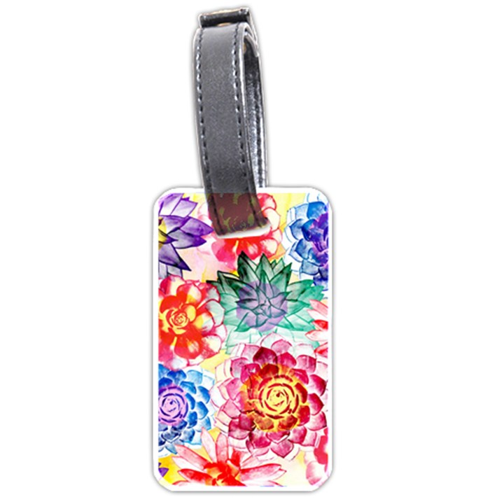 Colorful Succulents Luggage Tags (Two Sides)