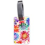 Colorful Succulents Luggage Tags (Two Sides) Back